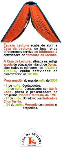 Actividades de xuño na Casa da Lectura
