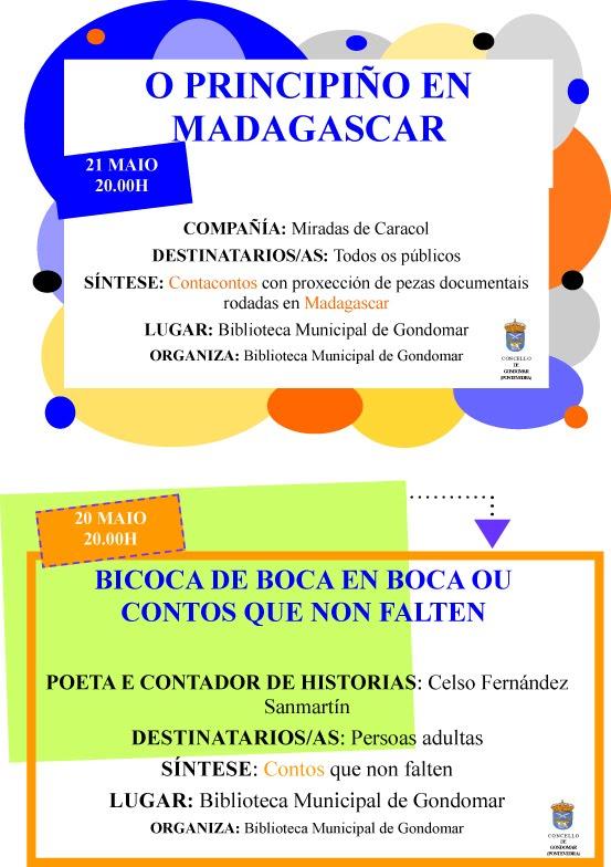 Actividades da Biblioteca Municipal de Gondomar con motivo do Día das Letras
