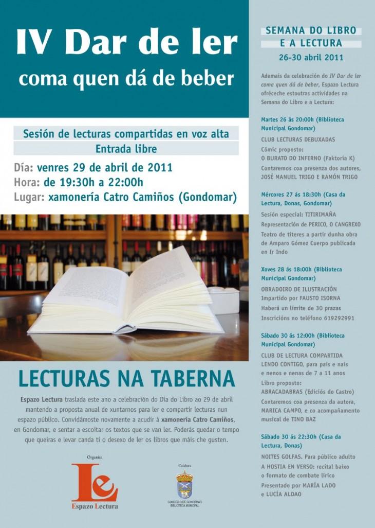 Semana do Libro a Lectura: do 26 ao 30 de abril en Gondomar