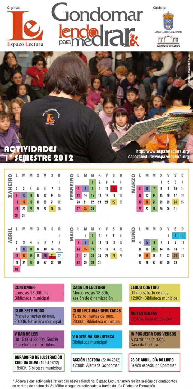 Calendario de actividades 1º semestre 2012