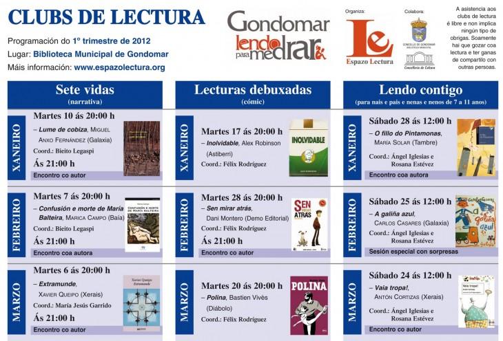 Clubs de lectura: programación xaneiro-marzo