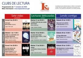 Clubs de lectura: calendario trimestral (xaneiro-marzo, 2020)