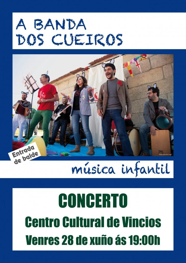 Concerto da Banda dos Cueiros no Centro Cultural de Vincios
