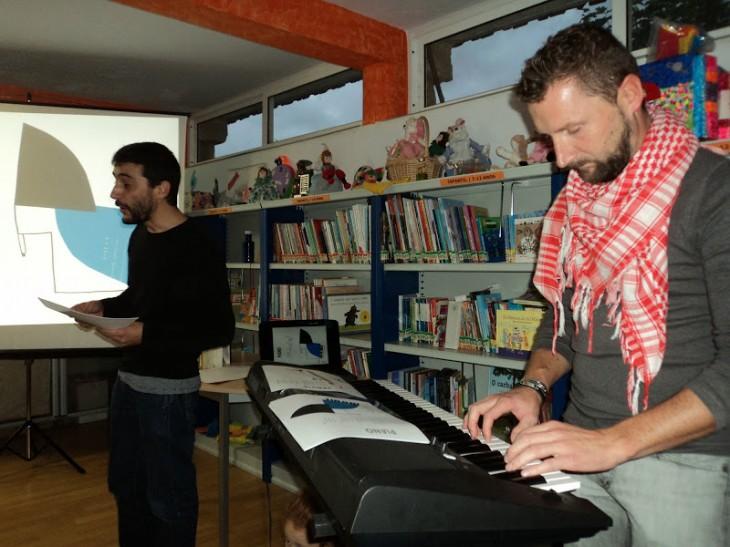 """Os vídeos da sesión """"Música e poesía"""" da Casa da Lectura"""