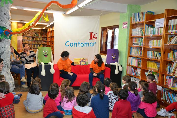 Mestres e mestras do CEIP Carlos Casares veñen contar ao Contomar