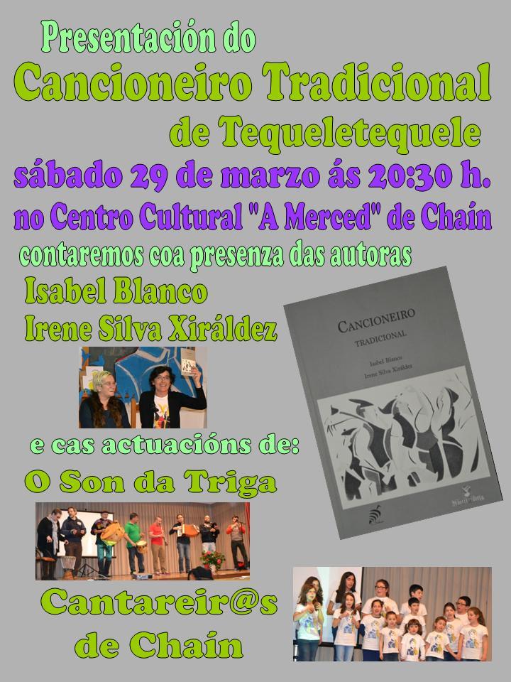 """Presentación do """"Cancioneiro Tradicional do Tequeletequele"""""""