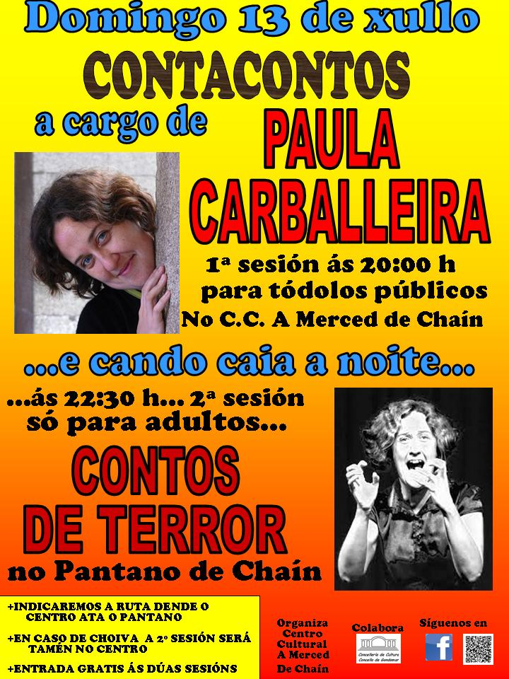 Paula Carballeira no Centro Cultural A Merced de Chaín