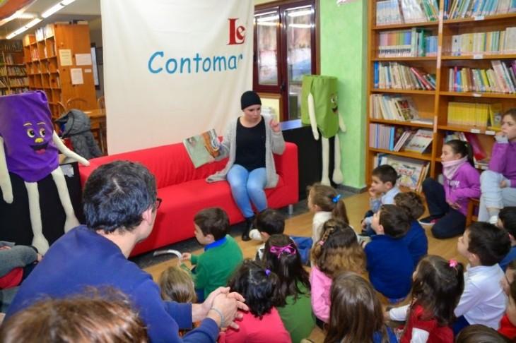 Profesorado do CEIP Serra Vincios traen contos ao Contomar