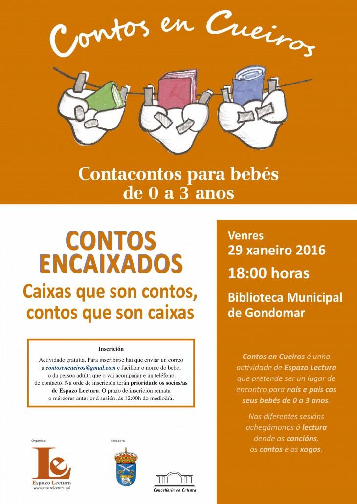 Novo encontro de Contos en Cueiros, o venres 29 ás 18:00h