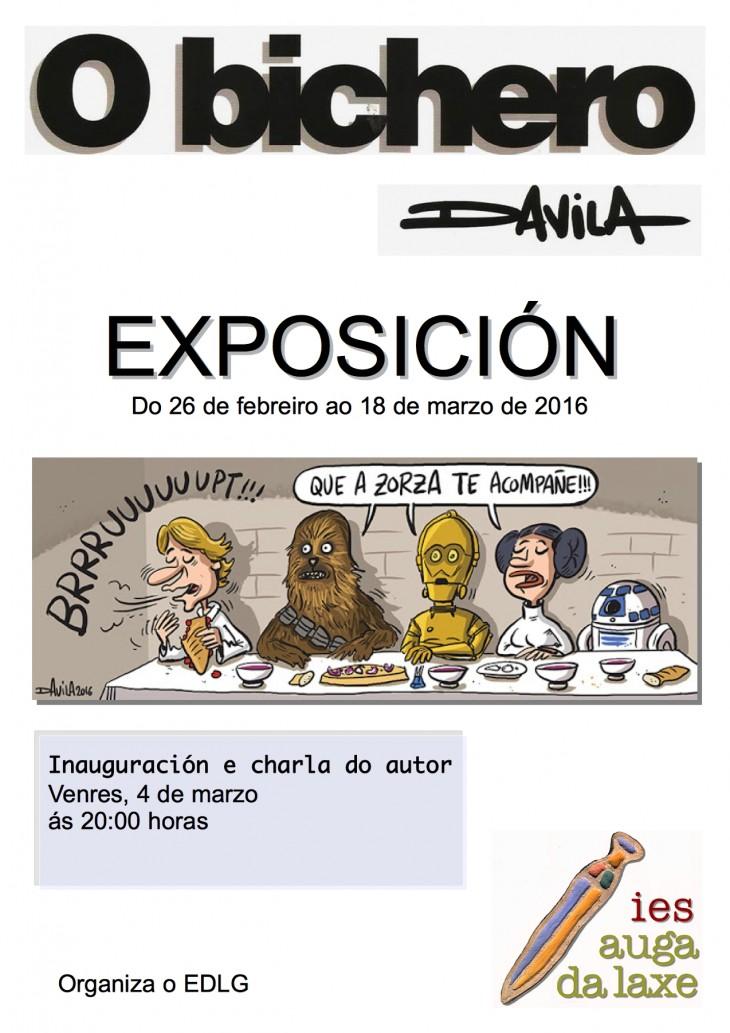 O debuxante Luís Davila participará na inauguración dunha exposición da súa obra no IES Auga da Laxe