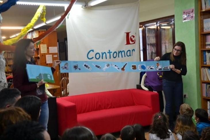 Profesorado do CEIP Serra Vincios visita o Contomar, dentro da programación da semana do Libro e a Lectura