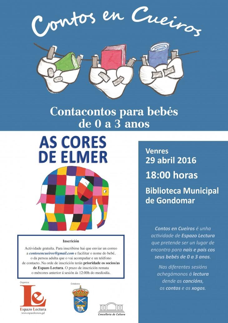 O mundo de «Elmer», no Contos en Cueiros do mes do Libro e a Lectura