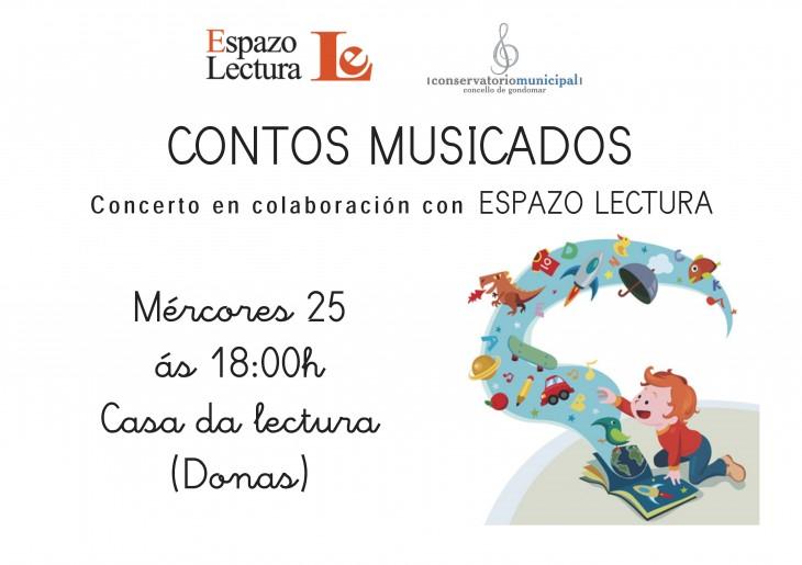 """""""Contos musicados"""" na Casa da Lectura, en colaboración co Conservatorio Municipal de Gondomar"""