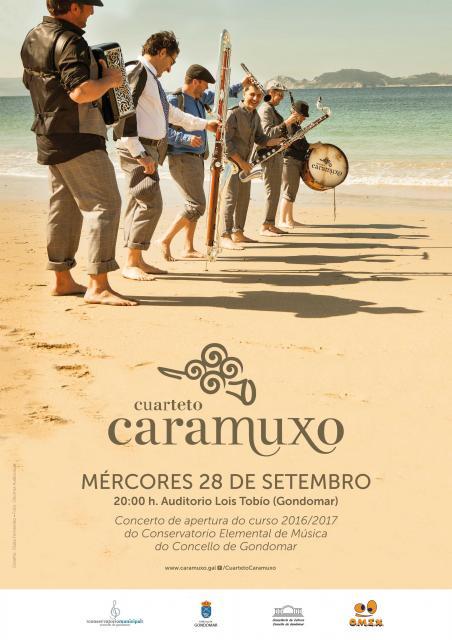 O Conservatorio Elemental de Música de Gondomar inaugura o curso cun concerto de Cuarteto Caramuxo