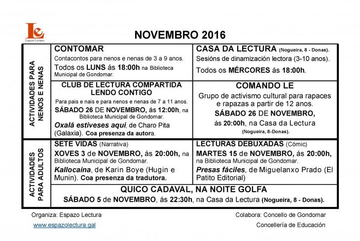 Actividades do mes de novembro