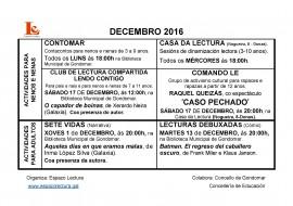 Actividades do mes de decembro