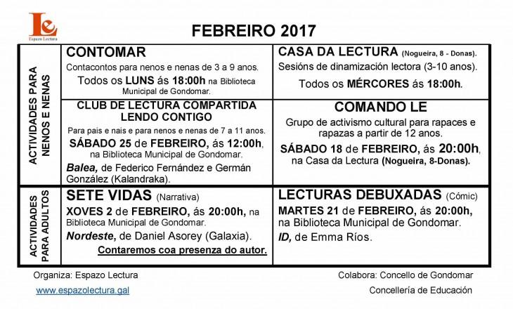 Actividades do mes de febreiro de 2017