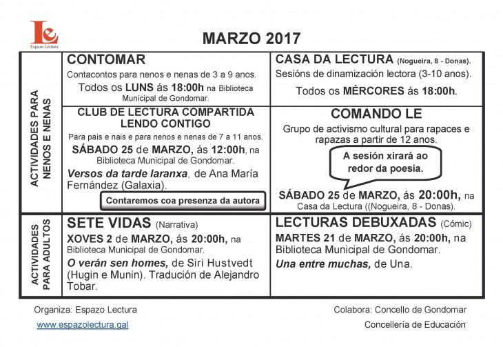 Actividades do mes de marzo 2017