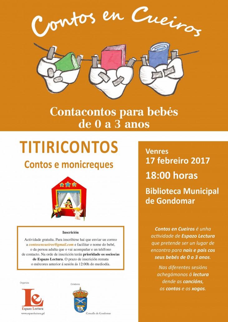 «Titiricontos», contos e monicreques no próximo encontro de Contos en Cueiros