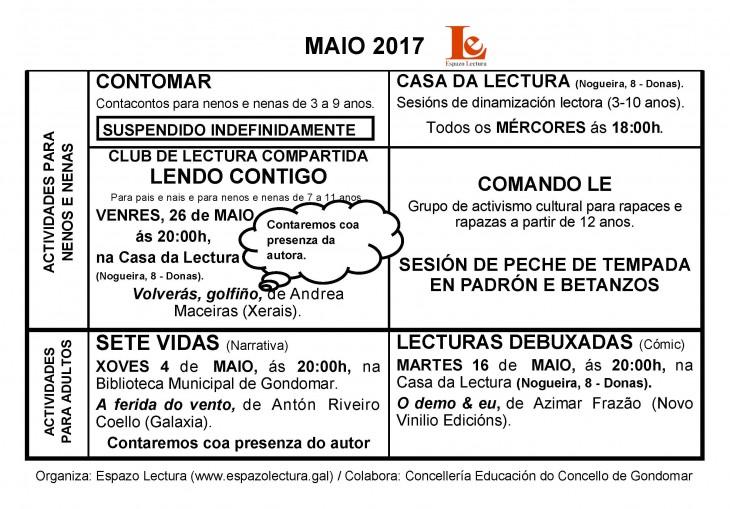 Actividades de maio 2017