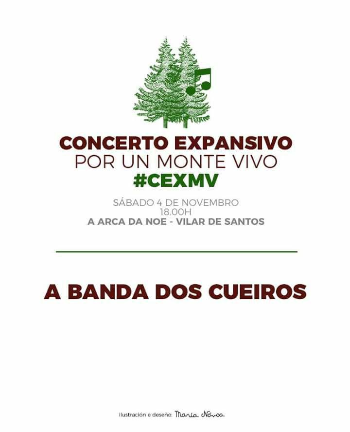 Concerto da Banda dos Cueiros en Vilar de Santos, dentro dos concertos expansivos por un monte vivo