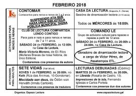 Actividades febreiro 2018