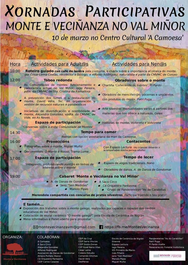 Espazo Lectura participa, o sábado 10 de marzo, nas xornadas Monte e Veciñanza no Val Miñor