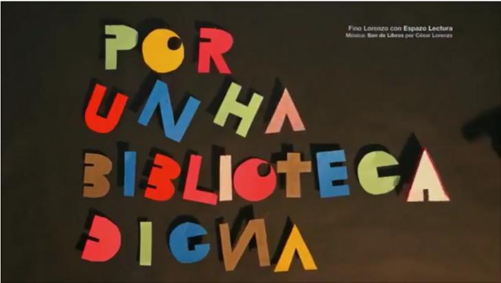 O artista plástico Fino Lorenzo apoia a campaña «Por unha biblioteca pública para Gondomar»