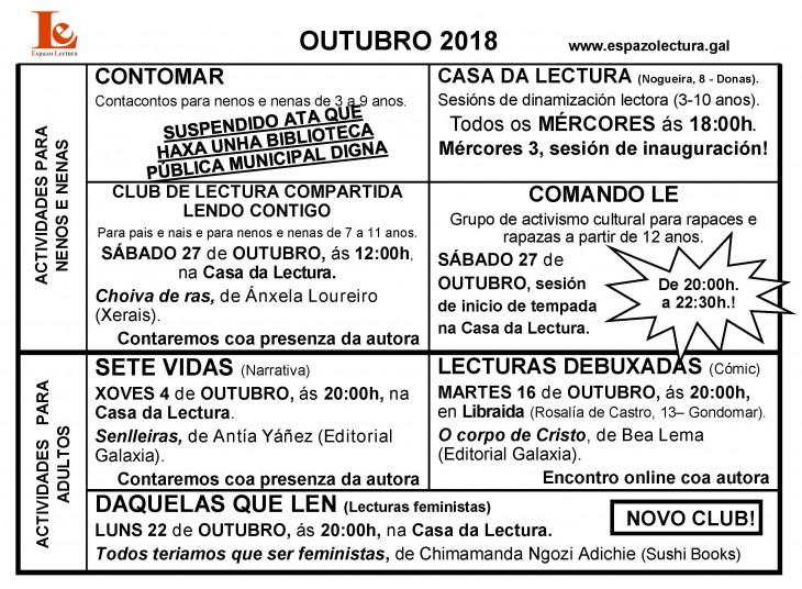 Actividades do mes de outubro 2018