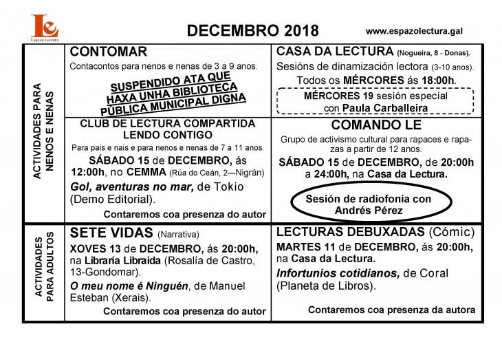 Actividades de decembro 2018