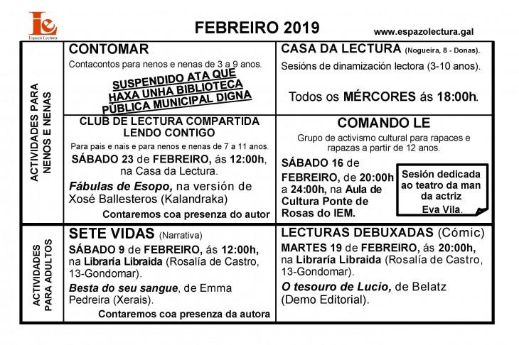 Actividades de febreiro 2019