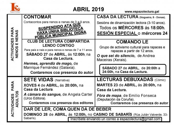 Actividades abril 2019