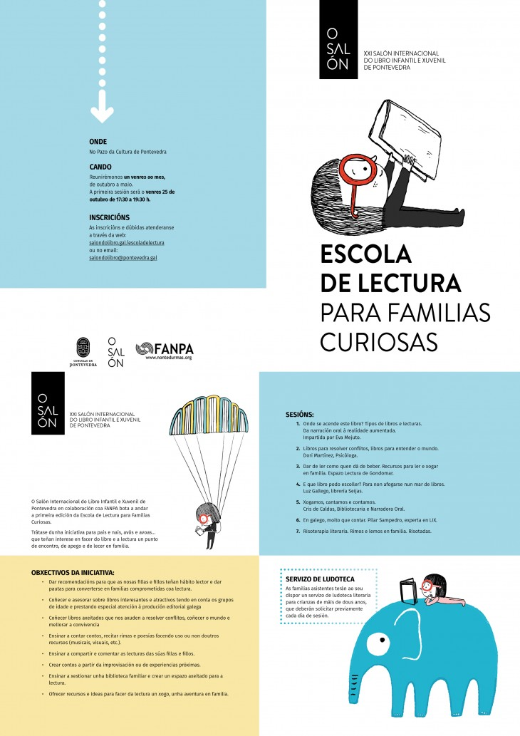 Espazo Lectura participa este venres na «Escola de lectura para familias curiosas» do Salón do Libro de Pontevedra