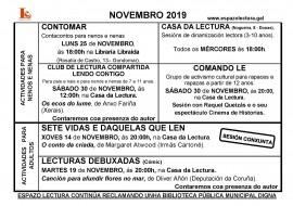 Programa de actividades, novembro 2019