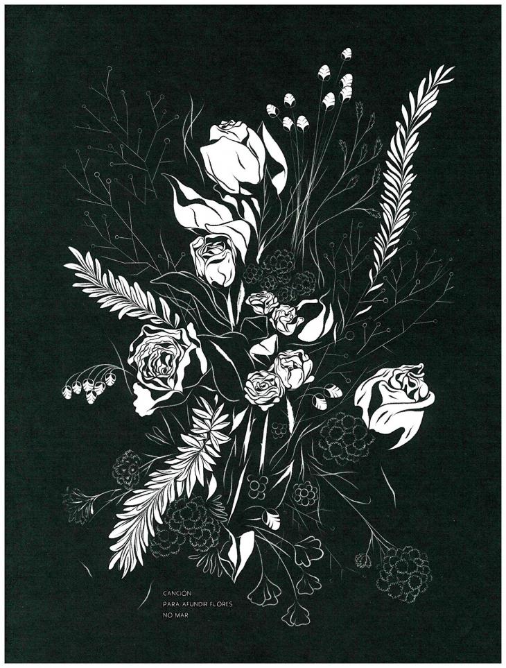 «Canción para afundir flores no mar», de Oliver Añón, no Lecturas Debuxadas de novembro