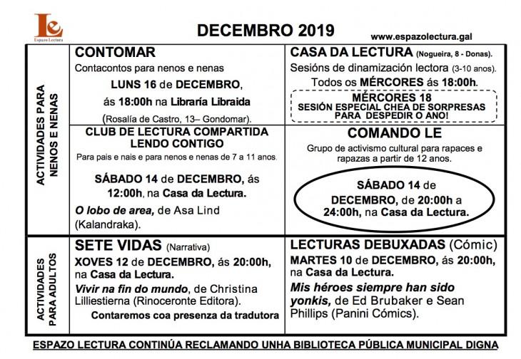 Actividades decembro 2019