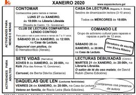 Actividades xaneiro 2020
