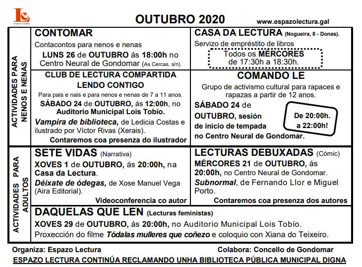 Actividades outubro 2020