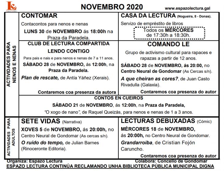 Actividades novembro 2020