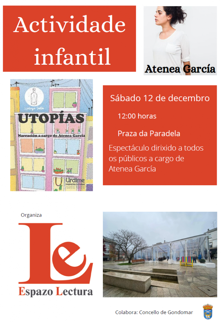 """""""Utopías"""" de Atenea García este sábado na praza da Paradela"""